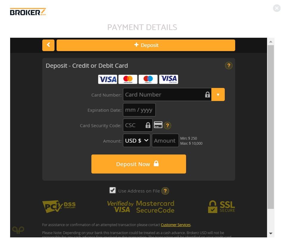 bitcoin code deposit
