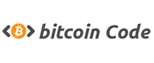 bitcoin code orange black logo