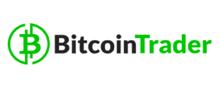 robot bitcoin trader logo black green