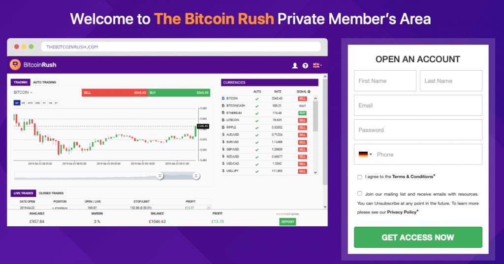 Bitcoin Rush aanmelding