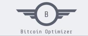 grijs logo van bitcoin robot optimizer