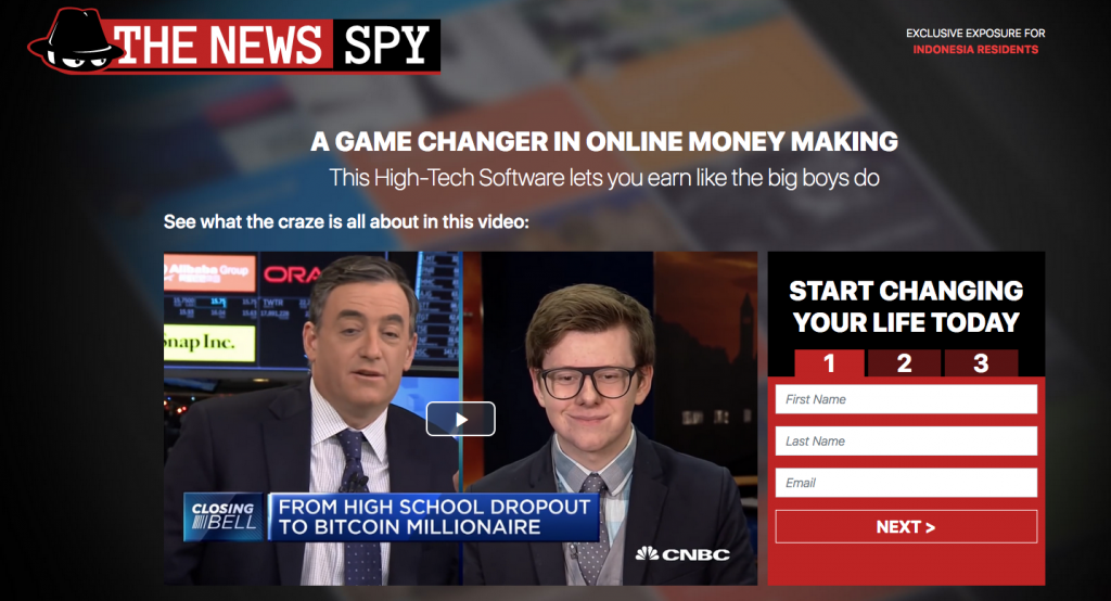 oficjalna strona the news spy