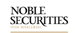 logo noble securities carno białe