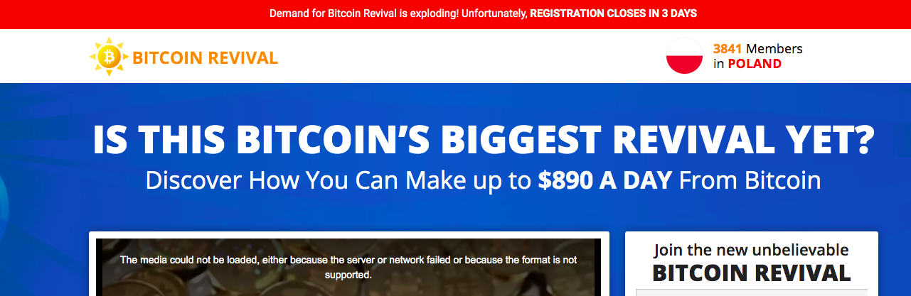 landing page of bitcoin robot
