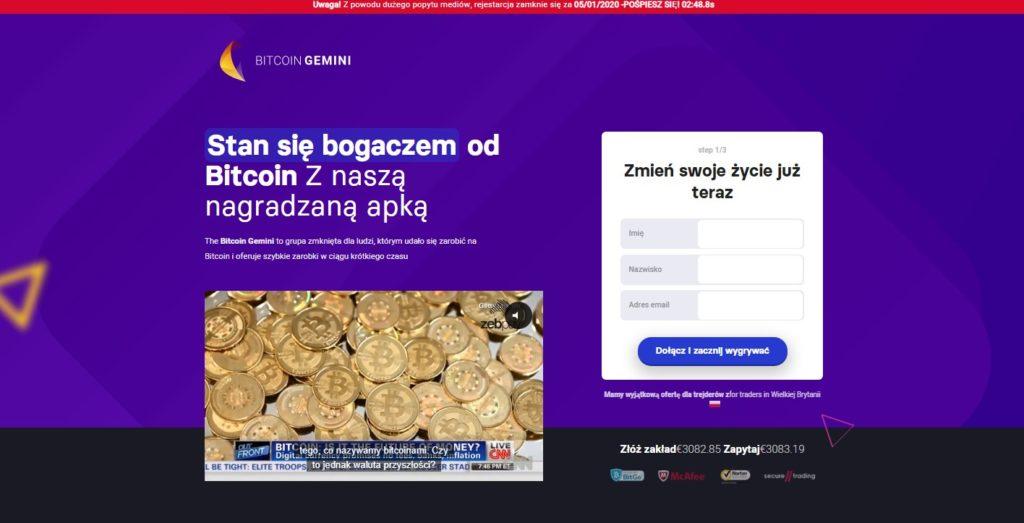 kryptorobot bitcoin gemini film promocyjny formularz rejestracyjny
