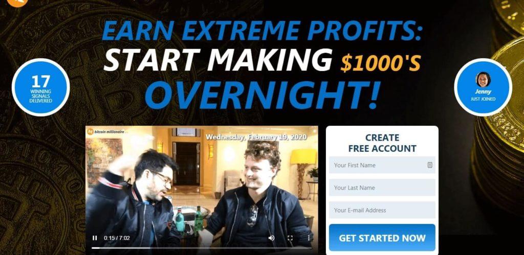 BTC Millionaire Pro strona startowa