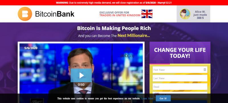 Bitcoin Bank strona główna
